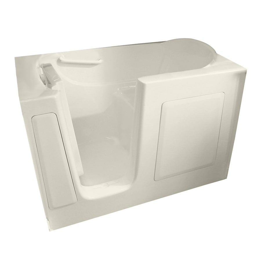 American Standard Walk-in Gelcoat and Fiberglass Rectangular Walk-in Bathtub with Left-Hand Drain (Common: 30-in x 60-in; Actual: 38-in x 30-in x 60-in)