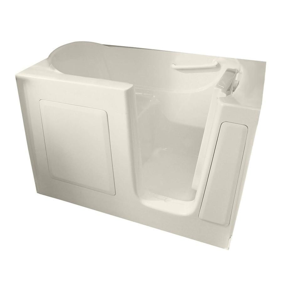 American Standard Walk-in Bath 60-in L x 30-in W x 37-in H Linen Gelcoat and Fiberglass Rectangular Walk-in Whirlpool Tub and Air Bath