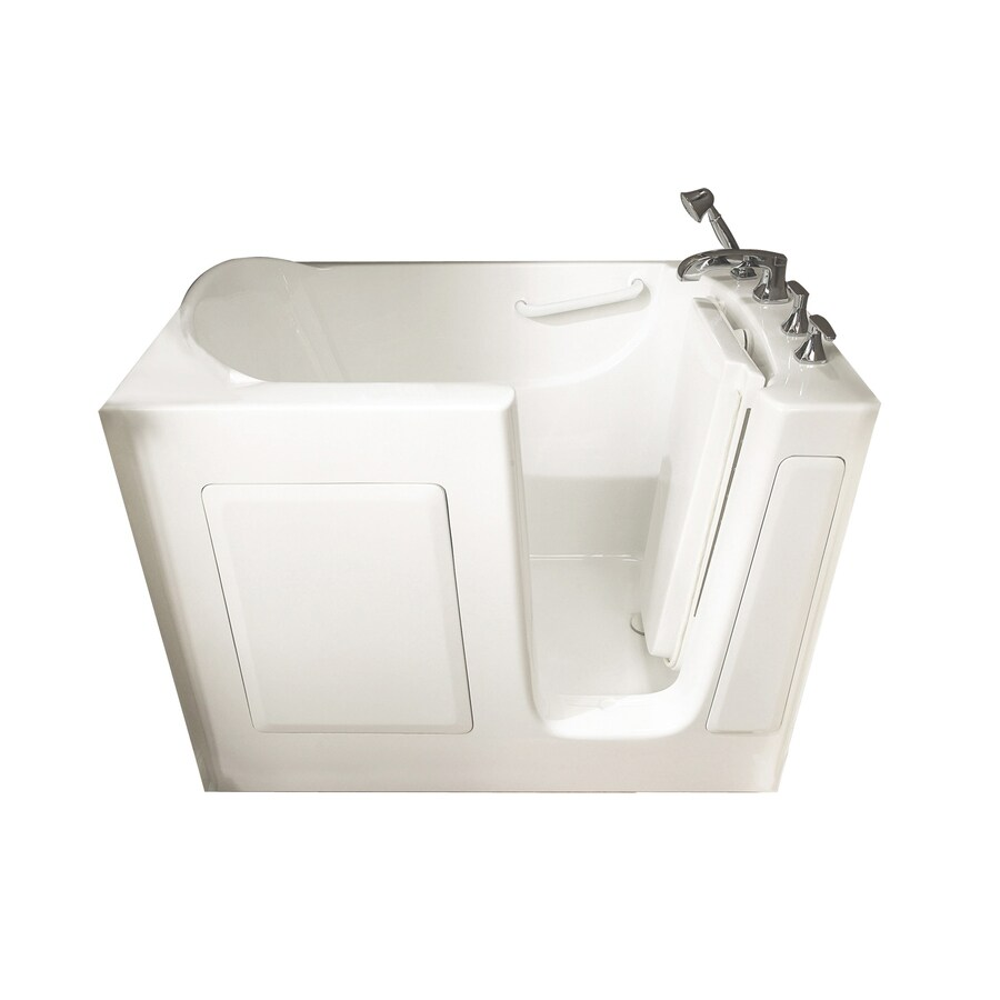 American Standard Walk-In-Baths 50-in L x 30-in W x 37-in H White Gelcoat and Fiberglass Rectangular Walk-in Air Bath