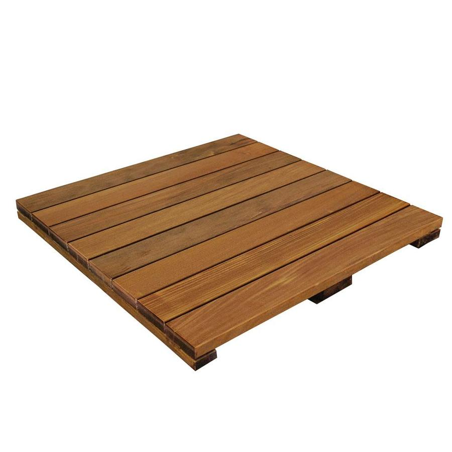 Shop deckwise solid smooth ipe hardwood deck tile common for What is the best wood for decking