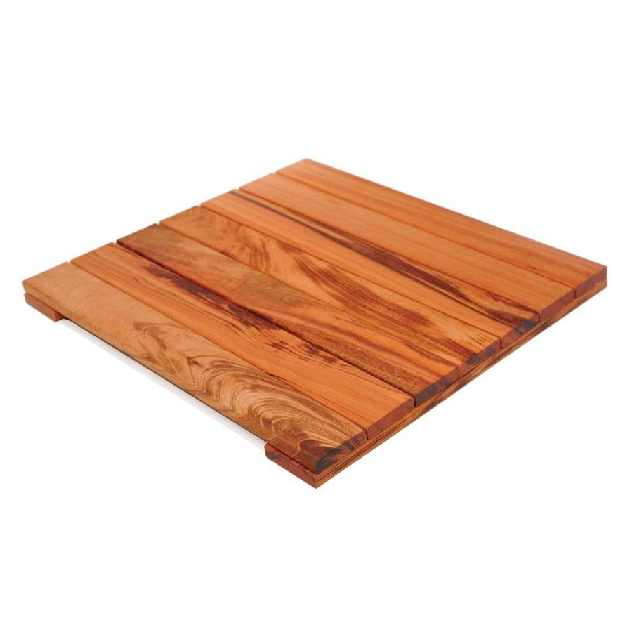 DeckWise Solid Smooth Tigerwood Hardwood Deck Tile (Common: 20-in x 20-in x 1.18-in; Actual: 19-5/8-in x 19-5/8-in x 1-3/16-in)
