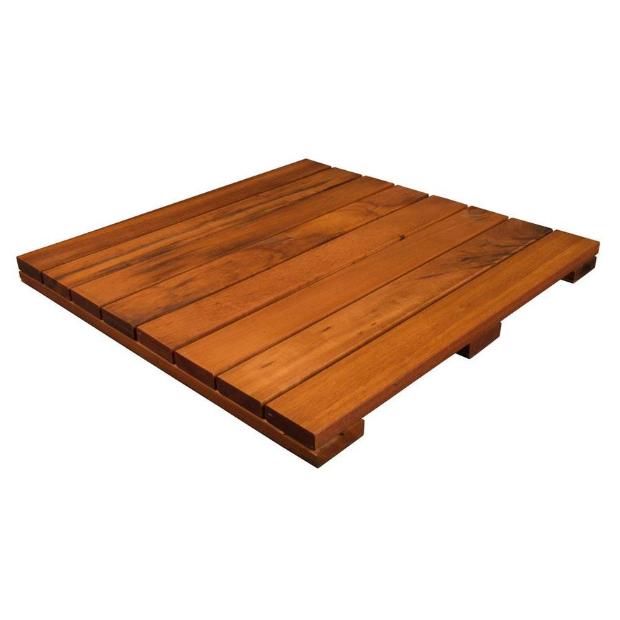 DeckWise Solid Smooth Tigerwood Hardwood Deck Tile (Common: 24-in x 24-in x 2-in; Actual: 23-7/8-in x 23-7/8-in x 1-11/16-in)