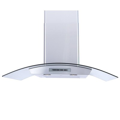 Windster 36 In Convertible Stainless Steel Wall Mounted