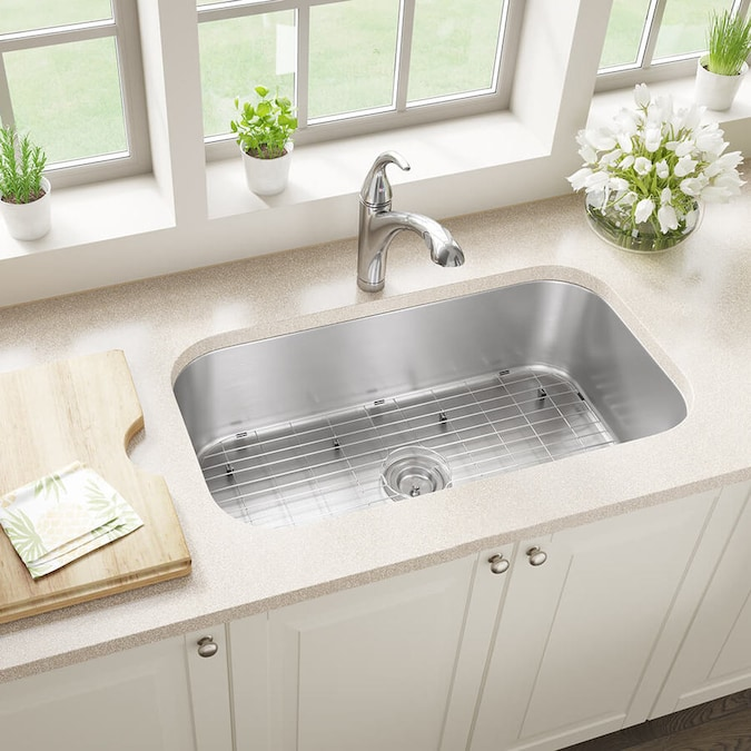 Mr Direct Undermount 32 25 In X 18 In Stainless Steel Single Bowl Kitchen Sink In The Kitchen Sinks Department At Lowes Com