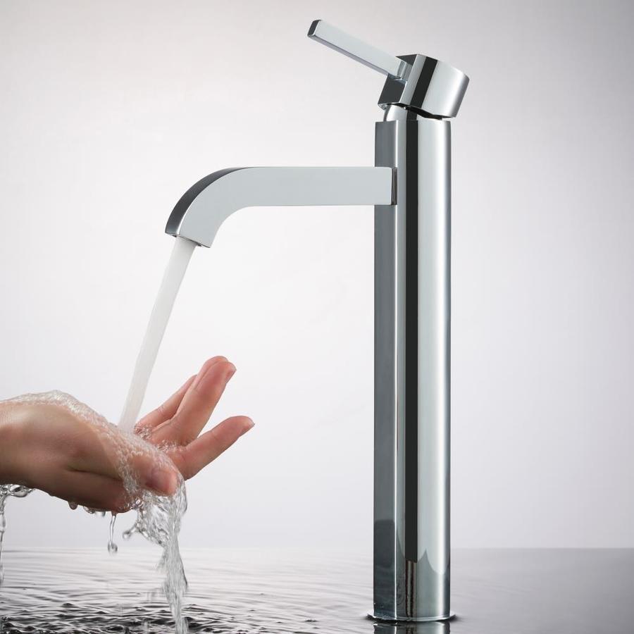 Kraus Vessel Mixer Chrome 1-Handle Vessel WaterSense Bathroom Faucet