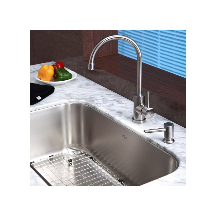 Kraus Stainless Steel 1-Handle High-Arc Kitchen Faucet