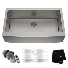 White undermount kitchen sinks Counter Top Kitchen Kraus Standart Pro 3588in 2075in Stainless Steel Singlebasin Standard Lowes Kitchen Sinks At Lowescom