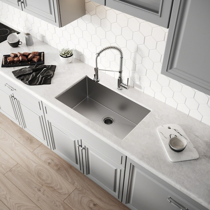 Kraus Handmade 30 In X 18 Stainless Steel Single Bowl Undermount Commercial Residential Kitchen Sink The Sinks Department At Lowes