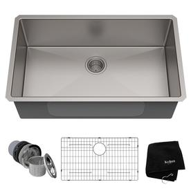 Kraus Handmade 32 In X 19 In Stainless Steel Single Basin Undermount  Residential