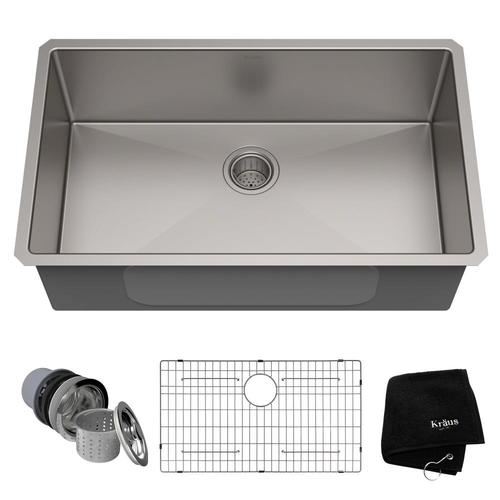 Single Bowl Kitchen Sink And Faucet Stainless Steel, $298.99