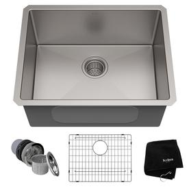 Kraus Handmade 23 In X 18 In Stainless Steel Single Basin Stainless Steel