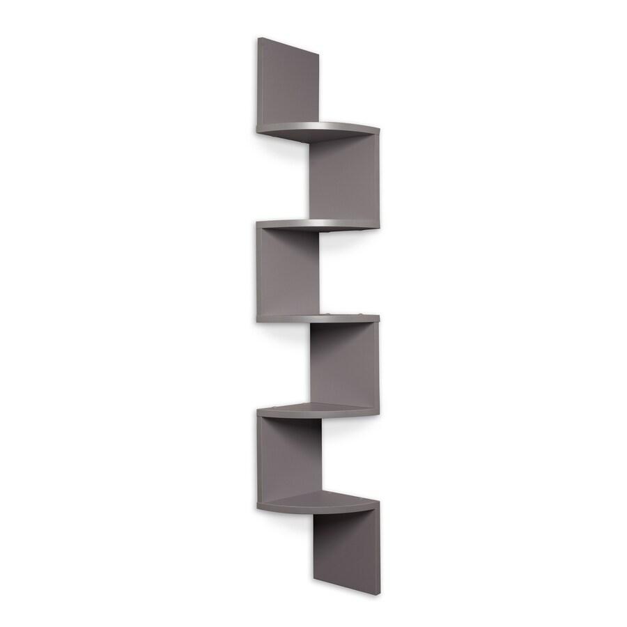 Danya B 7.75-in W x 48.5-in H x 7.75-in D Wood Wall Mounted Shelving