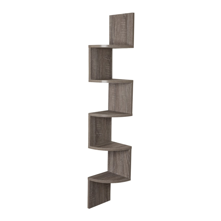Danya B 7.75-in W x 48.5-in H x 7.75-in D Wood Wall Mounted Shelving