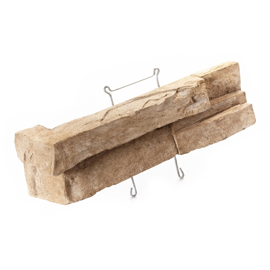ClipStone Prostack Corner 18-Pack 4-in x 8-in Sand Outside Corner Stone Veneer Trim