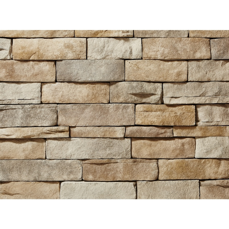 Shop Clipstone Ledgestone 8 Sq Ft Tan Faux Stone Veneer At