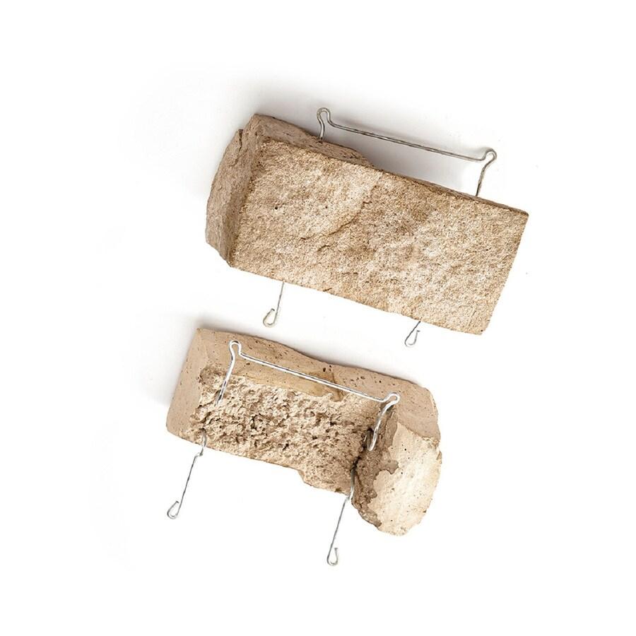 ClipStone Ledgestone Corner 24-Pack 4-in x 8-in Sand Outside Corner Stone Veneer Trim
