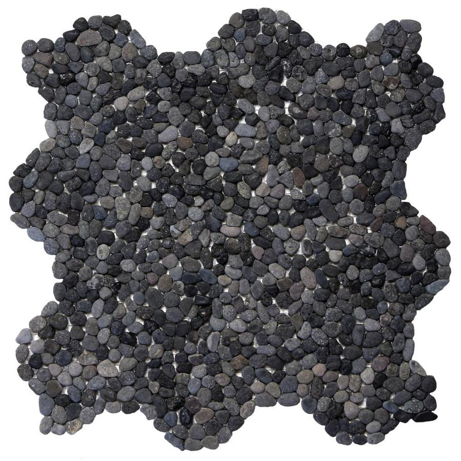 Solistone Micro Pebbles 10-Pack Barbados Black Pebble Mosaic Floor and Wall Tile (Common: 12-in x 12-in; Actual: 12-in x 12-in)