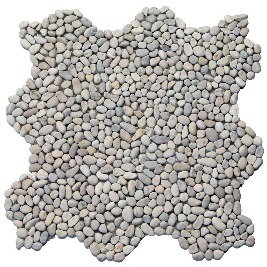 Solistone Micro Pebbles 10-Pack Playa Beige Pebble Mosaic Floor and Wall Tile (Common: 12-in x 12-in; Actual: 12-in x 12-in)