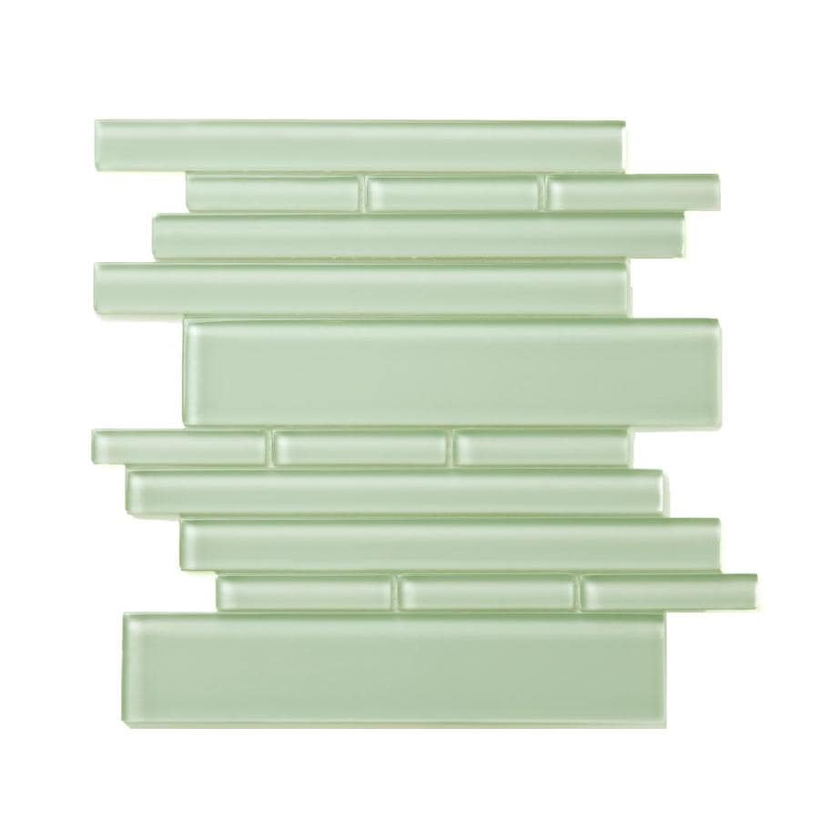 Solistone Piano Glass 10-Pack Symphony Linear Mosaic Glass Wall Tile (Common: 9-in x 10-in; Actual: 9.5-in x 10.5-in)