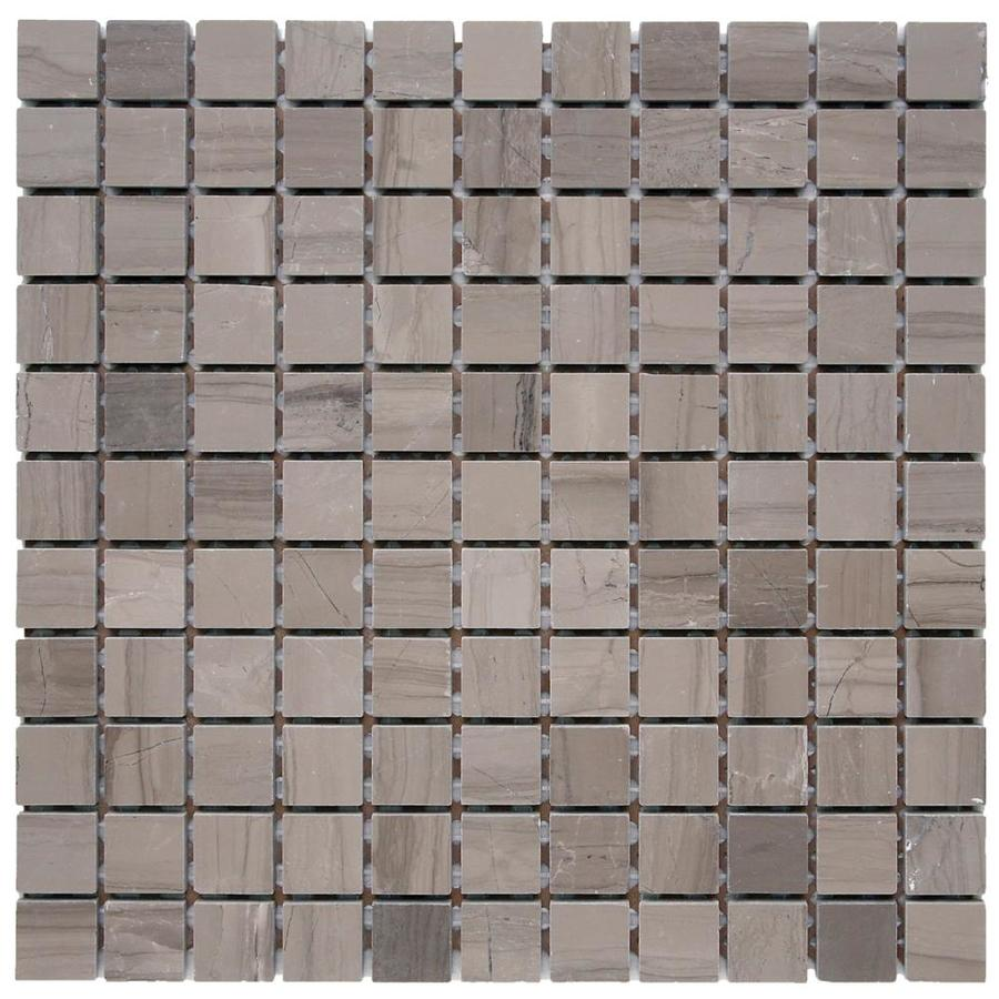 Solistone Haisa Marble 10-Pack Haisa Dark Uniform Squares Mosaic Marble Floor and Wall Tile (Common: 12-in x 12-in; Actual: 12-in x 12-in)