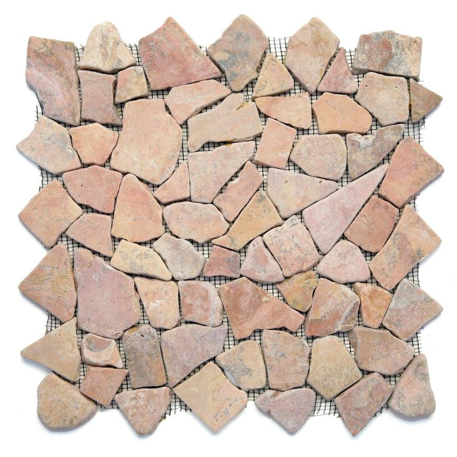 Solistone Indonesian Pebbles 10-Pack Sumatra Red Pebble Mosaic Floor and Wall Tile (Common: 12-in x 12-in; Actual: 12-in x 12-in)