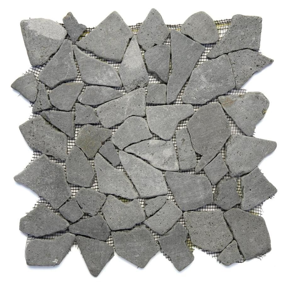 Solistone Indonesian Pebbles 10-Pack Java Black Mosaic Floor Tile (Common: 12-in x 12-in; Actual: 12-in x 12-in)