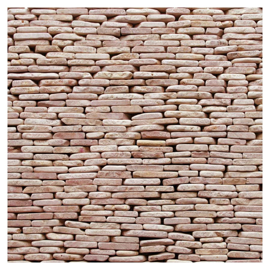 Outdoor Tile Natural Stone : Shop solistone pack standing decorative pebbles red