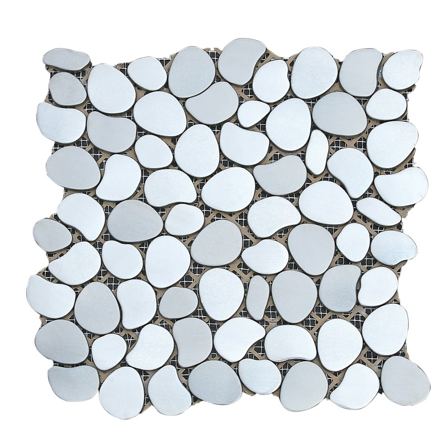 Solistone Metal Freeform 10-Pack Aurora Pebble Mosaic Metal Wall Tile (Common: 11-in x 11-in; Actual: 11-in x 11-in)