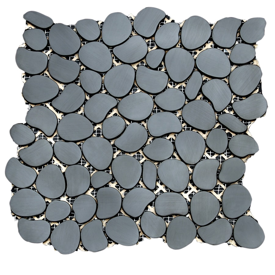 Solistone Metal Freeform 10-Pack Umbra Pebble Mosaic Metal Wall Tile (Common: 11-in x 11-in; Actual: 11-in x 11-in)