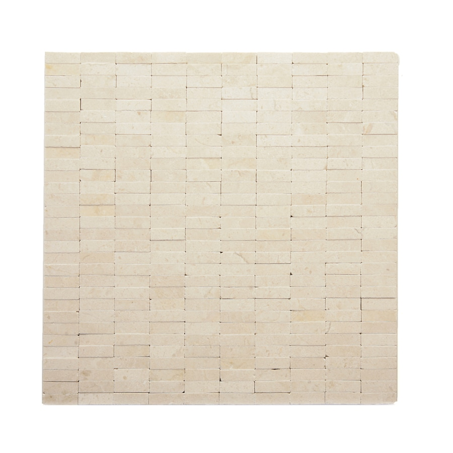 Solistone Post Modern 10-Pack Mondrian Uniform Squares Mosaic Marble Wall Tile (Common: 12-in x 12-in; Actual: 12-in x 12-in)