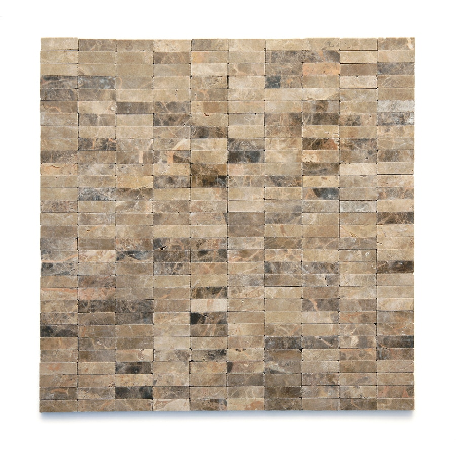 Solistone Post Modern 10-Pack Rodin Uniform Squares Mosaic Marble Wall Tile (Common: 12-in x 12-in; Actual: 12-in x 12-in)