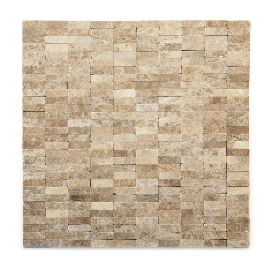 Solistone Post Modern 10-Pack Degas Uniform Squares Mosaic Marble Wall Tile (Common: 12-in x 12-in; Actual: 12-in x 12-in)