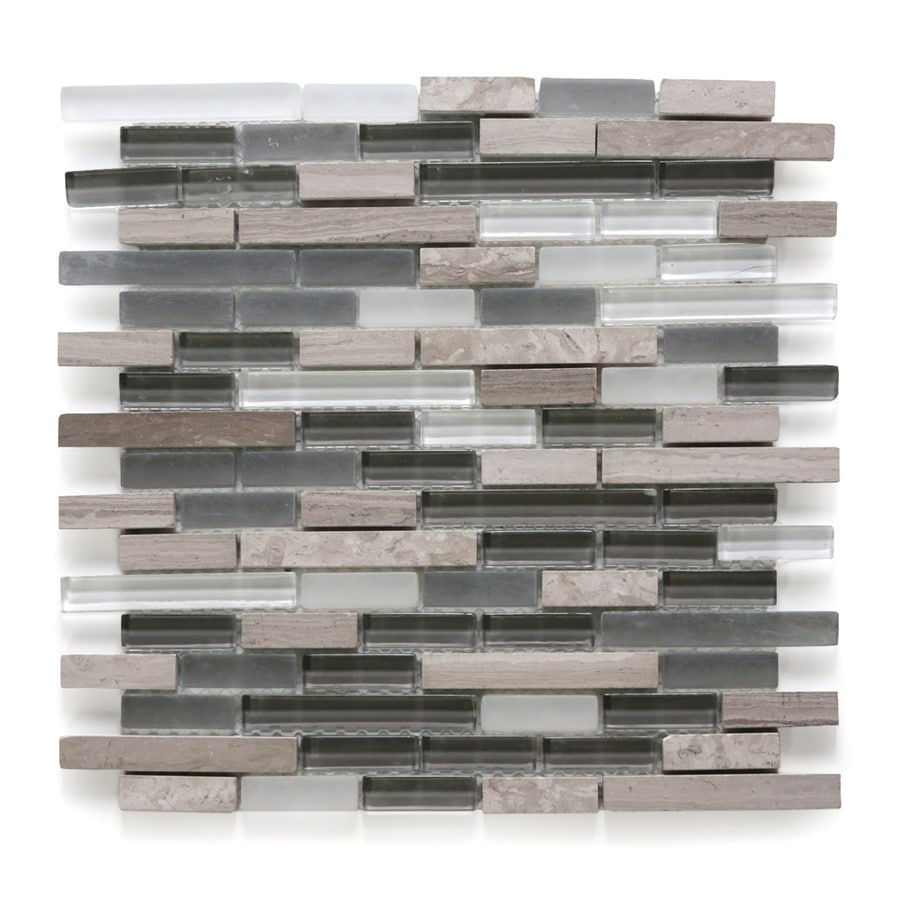 Solistone Opera Glass 10-Pack Aria Light Mosaic Stone and Glass Marble Wall Tile (Common: 12-in x 12-in; Actual: 11.75-in x 12-in)