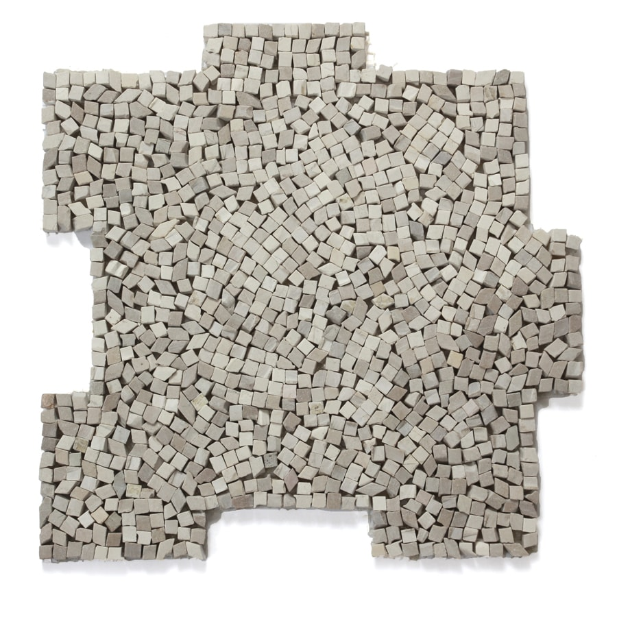 Solistone Palazzo Pebbles 10-Pack Flavia Pebble Mosaic Floor and Wall Tile (Common: 12-in x 12-in; Actual: 12-in x 12-in)