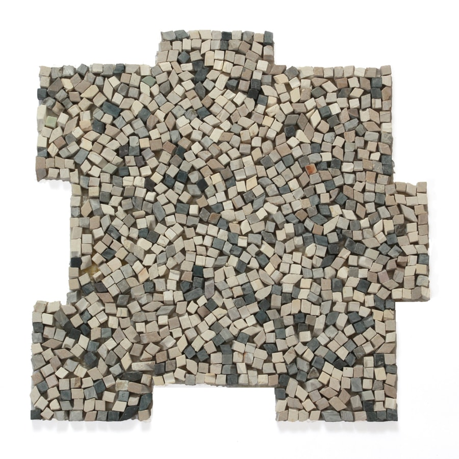 Solistone Palazzo Pebbles 10-Pack Antica Pebble Mosaic Floor and Wall Tile (Common: 12-in x 12-in; Actual: 12-in x 12-in)