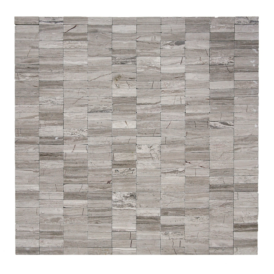 Solistone Post Modern 10-Pack Haisa Light Flat Stacked Uniform Squares Mosaic Marble Wall Tile (Common: 12-in x 12-in; Actual: 12-in x 12-in)