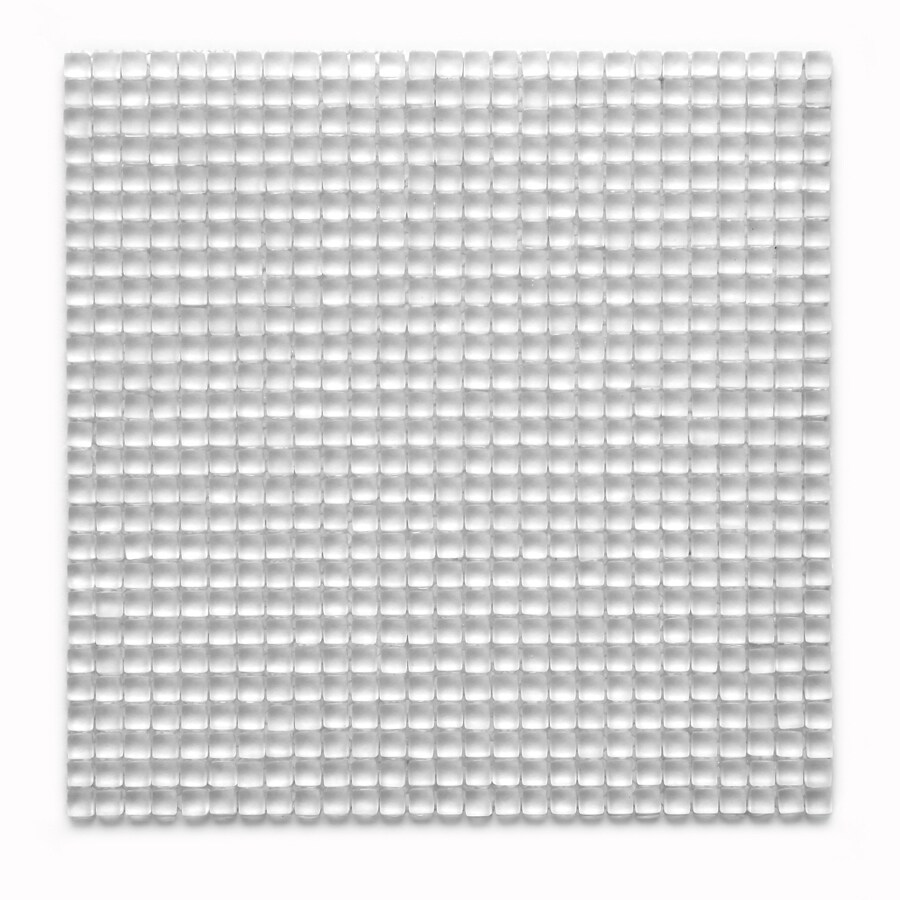 Solistone Atlantis Glass 10-Pack Anemone Frosted Uniform Squares Mosaic Glass Wall Tile (Common: 12-in x 12-in; Actual: 11.75-in x 11.75-in)