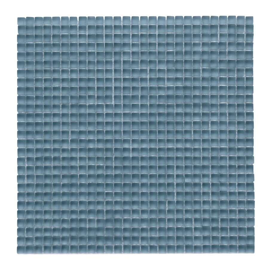 Solistone Atlantis Glass 10-Pack Dorado Frosted Uniform Squares Mosaic Glass Wall Tile (Common: 12-in x 12-in; Actual: 11.75-in x 11.75-in)