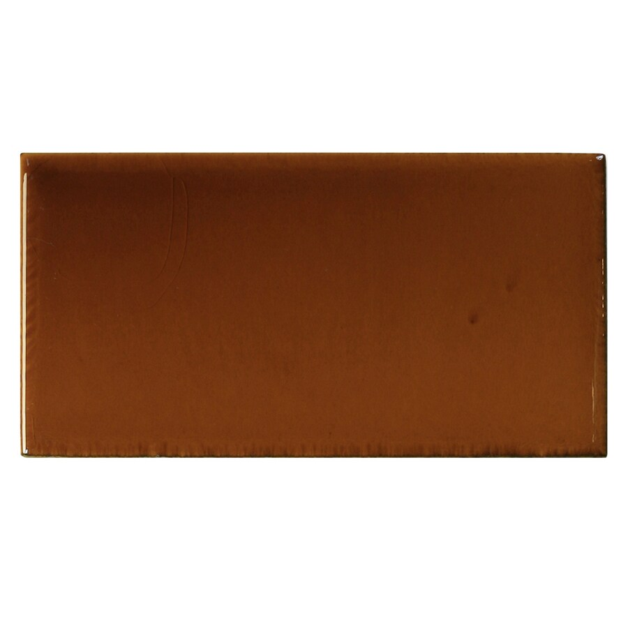 Shop Solistone Hand Painted Ceramic 10 Pack Russet Ceramic Wall Tile Common