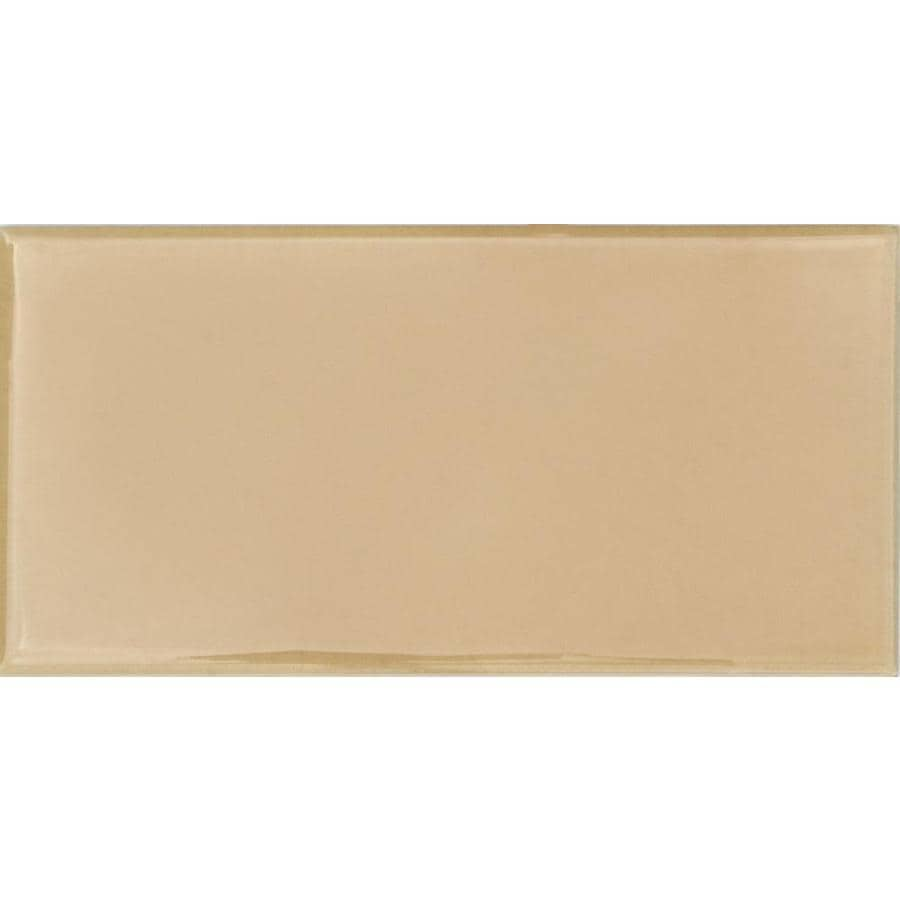 Solistone Hand-Painted Ceramic 10-Pack Crema Ceramic Wall Tile (Common: 3-in x 6-in; Actual: 3-in x 6-in)