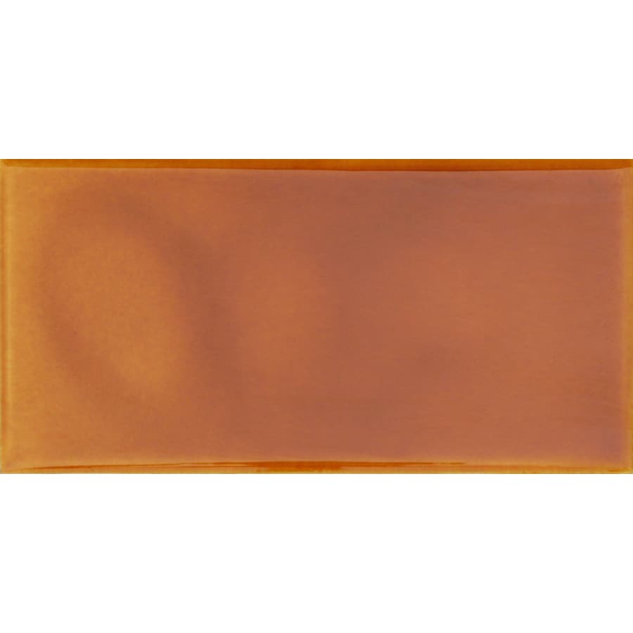 Solistone Hand-Painted Ceramic 10-Pack Tangerine Ceramic Wall Tile (Common: 3-in x 6-in; Actual: 3-in x 6-in)