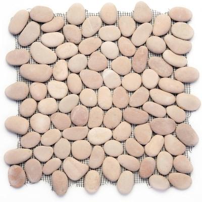 River Rock Pebbles 10 Pack Dawn 12 In X Pebble Mosaic Floor And Wall Tile Common Actual