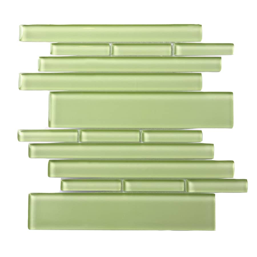 Solistone Piano Glass 10-Pack Tempo Linear Mosaic Glass Wall Tile (Common: 9-in x 10-in; Actual: 9.5-in x 10.5-in)