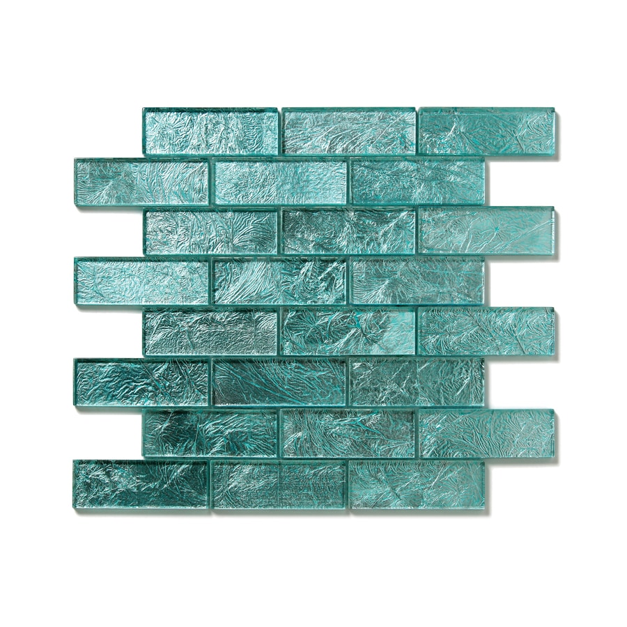 Solistone Folia Glass 10-Pack Juniper Mosaic Glass Wall Tile (Common: 12-in x 12-in; Actual: 12-in x 12-in)