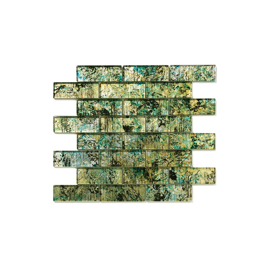 Solistone Folia Glass 10-Pack Octotillo Mosaic Glass Wall Tile (Common: 12-in x 12-in; Actual: 12-in x 12-in)