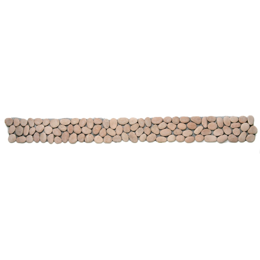 Solistone 9-Pack River Rock Pebbles Dawn Natural Stone Mosaic Random Indoor/Outdoor Floor Tile (Common: 4-in x 39-in; Actual: 4-in x 39-in)