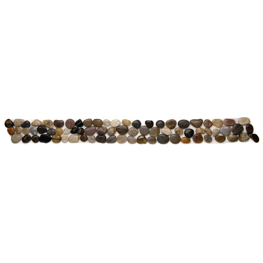Solistone 9-Pack Anatolia Pebbles Rumi Natural Stone Mosaic Random Indoor/Outdoor Floor Tile (Common: 4-in x 39-in; Actual: 4-in x 39-in)