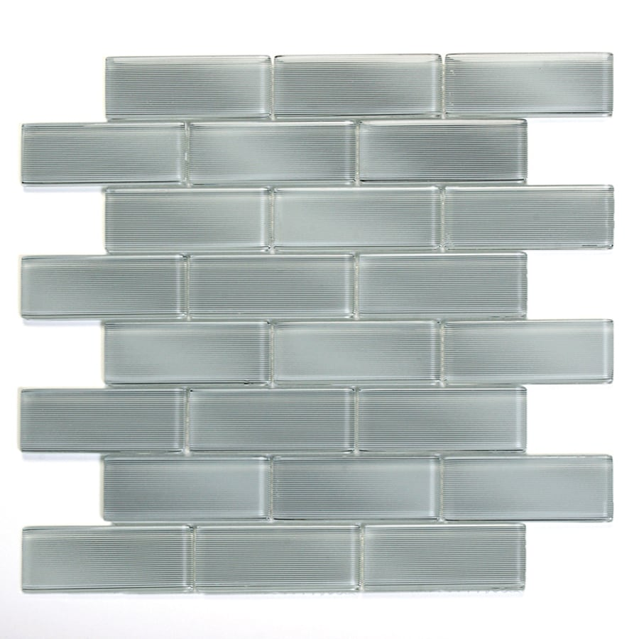Solistone Mardi Gras Glass 10-Pack Carrollton Mosaic Glass Wall Tile (Common: 12-in x 12-in; Actual: 12-in x 12-in)