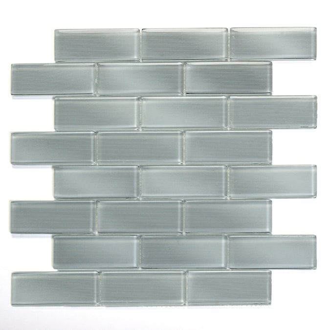 Solistone Mardi Gras Glass 10 Pack Carrollton Mosaic Glass Wall Tile Common 12 In X 12 In Actual 12 In X 12 In In The Tile Department At Lowes Com