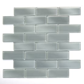 Solistone Mardi Gras Gl 10 Pack Carrollton Brick Mosaic Subway Tile Common